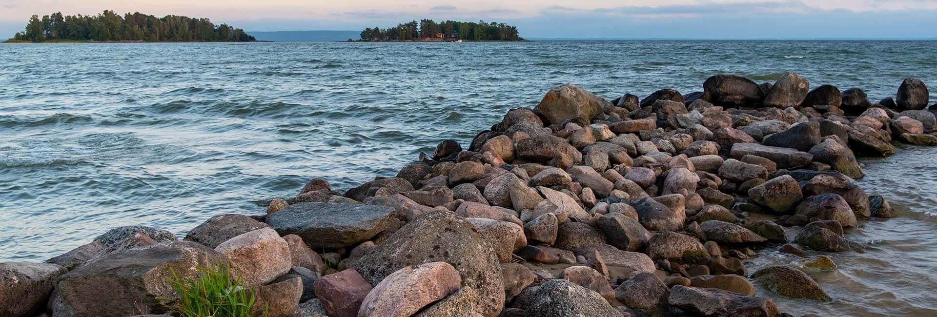 Sörbostrands camping utsikt över Vänern